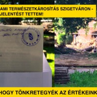Állami természetkárosítás Szigetváron - feljelentést tettem!