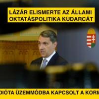 Lázár elismerte az állami oktatáspolitika kudarcát