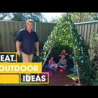Helytakarékos gyereksátor készítése a kertbe