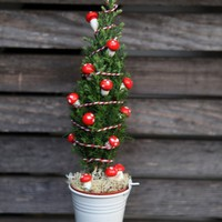 Karácsonyi dekorációk tündérkertbe