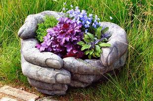 Kéz alakú kaspó készítése