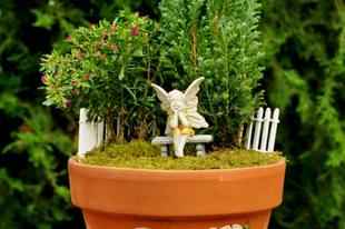 Tündérházikós virágkaspó készítése