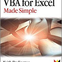VBA For Excel Made Simple (Made Simple Programming) Downloads Torrent