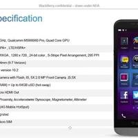Technikai részletek a BlackBerry A10-ről