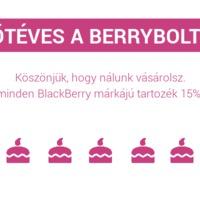 Ismét Berry szülinap, kedvezményekkel és meglepetésekkel!