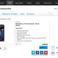 BlackBerryket kezdett árulni a BlackBerry