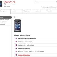 Korrekt Z10 leírás a Vodafone-nál