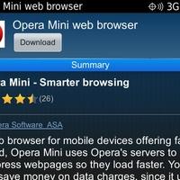 Opera Mini az App Worldben