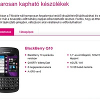 BlackBerry Q10 -- hamarosan a T-Mobile-nál!