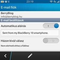 BB10 tippek-trükkök: e-mail aláírás beállítása