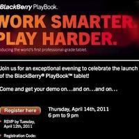 Egy hét múlva PlayBook launch parti - New Yorkban
