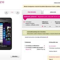 BlackBerry Z10 a T-Mobile-nál -- mennyi az annyi?