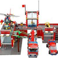 KAZI tűzoltóállomás LEGO replika teszt – Árban tökéletes