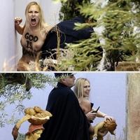 Megrongálták a Betlehemi jászolt a Vatikánban