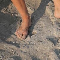 Római katona lábnyoma a Galileai-tónál