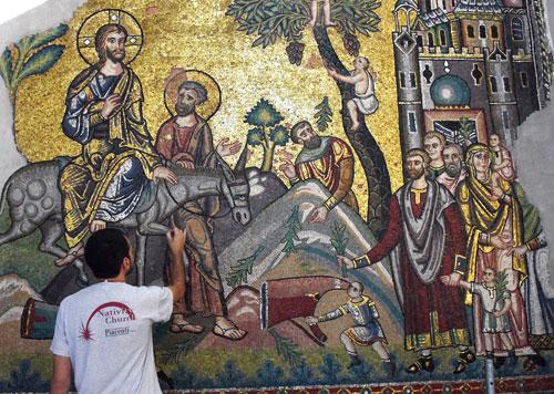 Jézus bevonul Jeruzsálembe