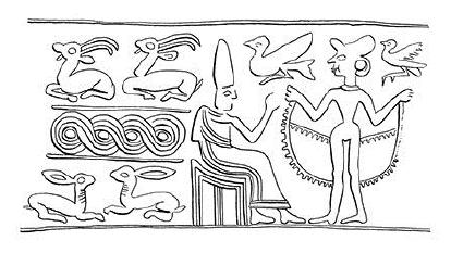 Hengerpecsét (Kr. e. 1750 körül), Szíria.