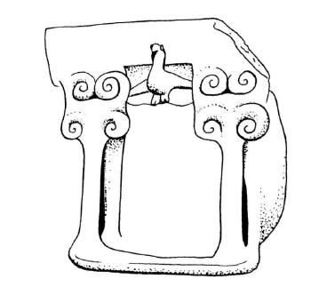 Templomot formáló házi szentély (Kr. e. 800–700 körül), Izrael/Palesztina.