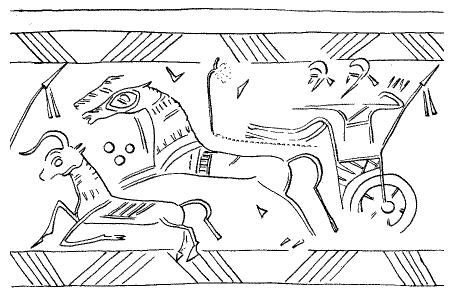 Hengerpecsét (Kr. e. 900–700), Asszíria.