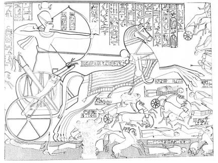 Relief (Kr. e. 1250 körül), II. Ramszesz thébai templomából.