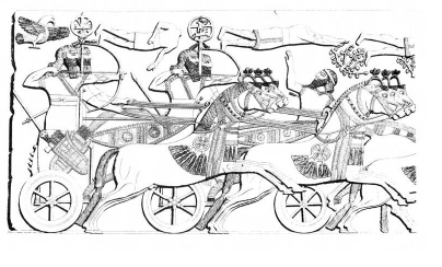 Relief (Kr. e. 850 körül), Nimrud / Asszíria.