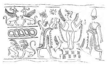 Hengerpecsét (Kr. e. 1850-1720), Szíria.