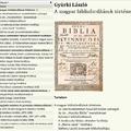 A magyar bibliafordítások története