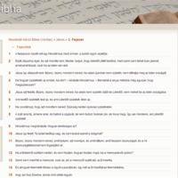 Egy újabb bibliaolvasó oldal
