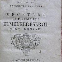 Meg-térő református elmélkedéséről 1763