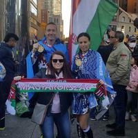 Tolnai Éva és Agyagási Ákos a célban - New York City Marathon 2018