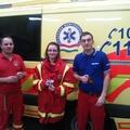 Mentőtisztek, orvosok, mentőápolók és gépkocsivezetők köszönete