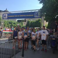 EU&ME - Futók Bicskéről, akik a 14 éves magyar EU-tagság okán 14 km-t futottak az Európa-napon