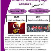 Jótékonysági koncert Adventkor