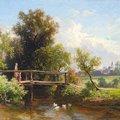 XIX. századi művész festményei Bicskéről, az egyik majdnem 4 milliós kikiáltási áron