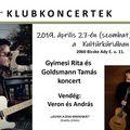 Gyimesi Rita és Goldsmann Tamás koncertje