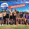 Bicskei fiatalok, akik 2019 júniusában nagyot úsztak Révfülöp és Balatonboglár között