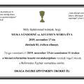Muka Sándorné született Kelemen Mária Éva emlékére