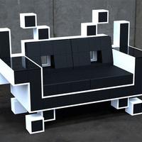 Space invaders kanapé