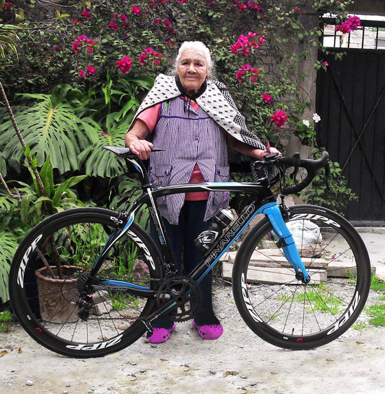 yDear friends of Bikegirls, there goes a pic of Flora Rivera Téllez, my beloved Grandmom in Bike...! Best greetings from México City and happy new year 2014!!!.jpg