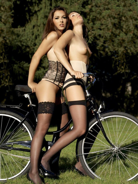 playmate on bicycle