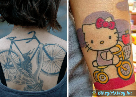 tattoo Bicycle woman