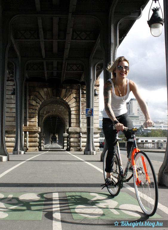 tattoo bicycle girl