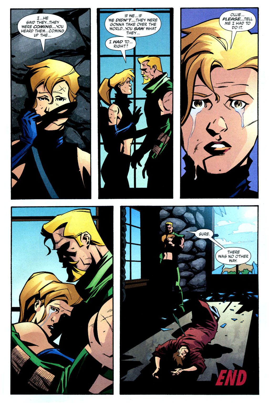 Green Arrow 39-23 Oliver Queen Mia Dearden Speedy.jpg