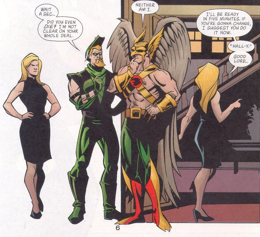 Green Arrow 12 pg06 BlackCanary GreenArrow Hawkman.JPG