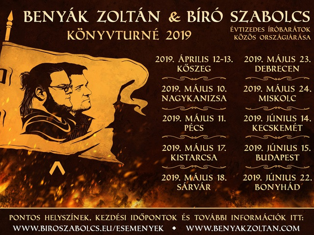 Benyák-Bíró könyvturné 2019