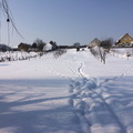 Gyönyörű, verőfényes hófödte táj