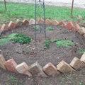 Én kis kertet kerteltem... - DIY ágyásszegély bontott téglából