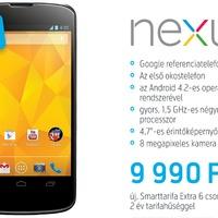 Itthon is kapható a Nexus 4