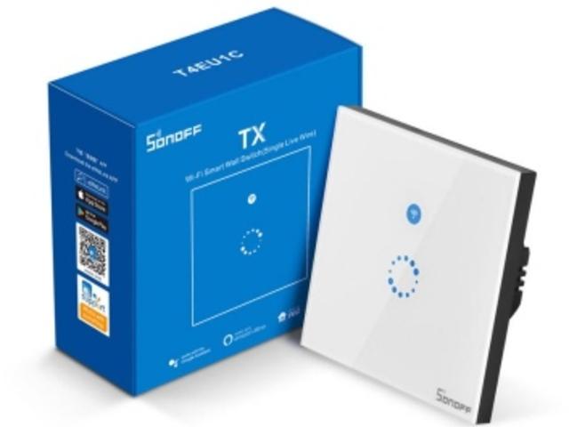 Wifi-s villanykapcsoló, csak fázisvezetékkel (Sonoff T4EU1C)
