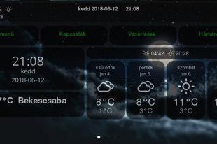Domoticz információs panel (Dashticz-DBoard)